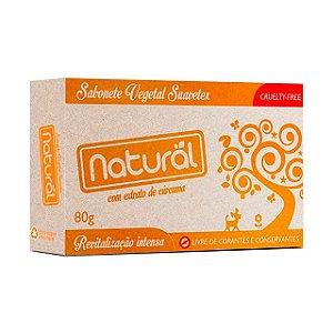 Sabonete Vegetal com Extrato Orgânico de Cúrcuma 80g - NATURAL SUAVETEX