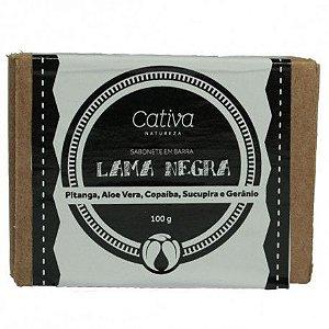 Sabonete Vegetal Lama Negra Orgânico Natural e Vegano 100g - CATIVA NATUREZA