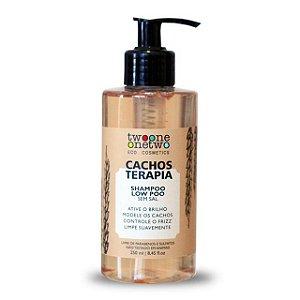Shampoo Cacho Terapia Chia e Linhaça - 250ml Vegano e Natural - TWOONE ONETWO