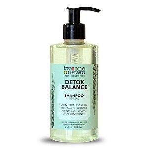 Shampoo Detox Balance Alcaçus e Algas Vermelhas - 250ml Vegano e Natural - TWOONE ONETWO