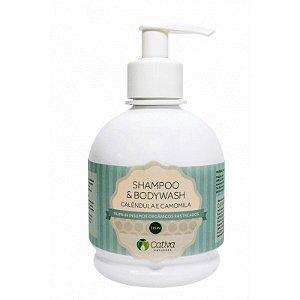 Shampoo e Sabonete 2 em 1 com Calêndula Natural Orgânico e Vegano 315 ml - CATIVA NATUREZA