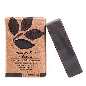 Shampoo Sólido em Barra de Neem, Copaíba e Melaleuca  115g - Vegano e Natural - Ares de Mato