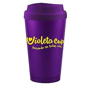Copo Higienizador e Porta Coletor 2 em 1 Violeta Cup