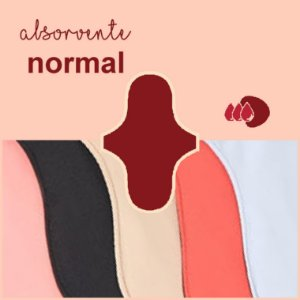 Absorvente Korui Normal - Cores Lisas