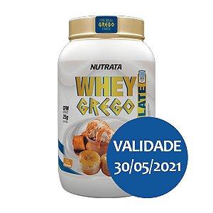 Whey Grego Isolate Banana Flambada - Nutrata 900gr
