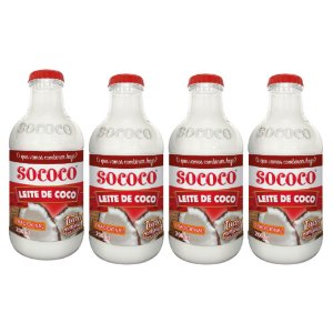 Kit C/ 4 Unidades Leite De Coco - Sococo 200ml