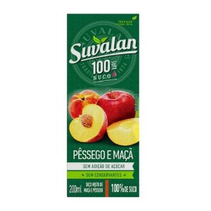 Suco Misto Maça Com Pessego - Suvalan 200ml