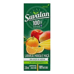Suco Misto de Laranja, Manga e Maçã - Suvalan 200ml