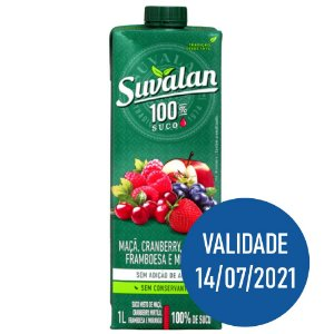 Suco de Maça, Cranberry, Mirtilo, Framboesa e Morango - Suvalan 1L