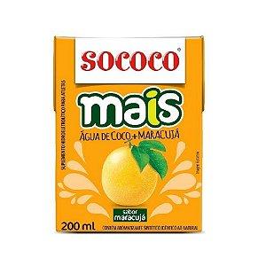 Água de Coco Mais Maracujá - Sococo 200ml