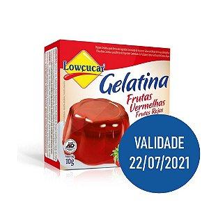 Gelatina Zero Frutas Vermelhas - Lowçucar 10gr