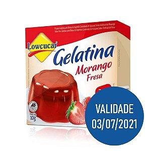 Gelatina Zero Morango - Lowçucar 10gr