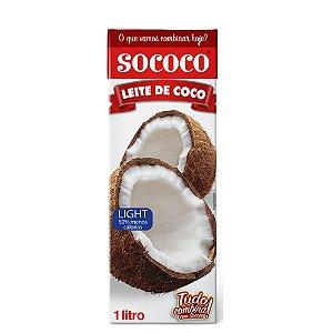 Leite De Coco Light TP - Sococo 1L