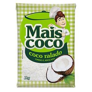 Coco Ralado Úmido e Adoçado - Mais Coco 1kg