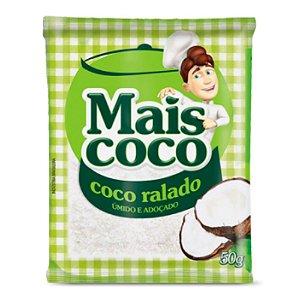Coco Ralado Úmido e Adoçado - Mais Coco 50gr