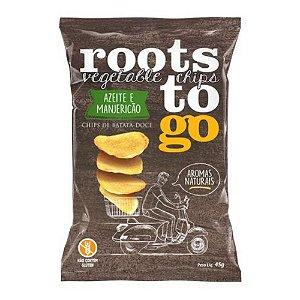 Chips de Batata Doce Sabor Azeite E Manjericão - Roots To Go 45gr