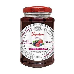 Geleia De Frutas Vermelhas Com Chia - Superbom 310gr