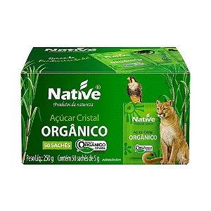 Açúcar Cristal Orgânico 50 Sachês - Native 250gr