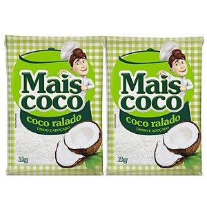 Kit C/ 2 Unidades Coco Ralado - Mais Coco 1kg