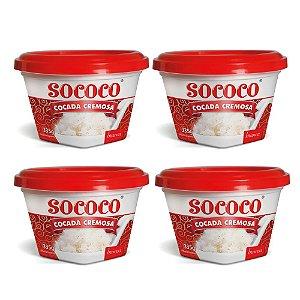 Kit C/ 4 Unidades Cocada Branca - Sococo 335gr