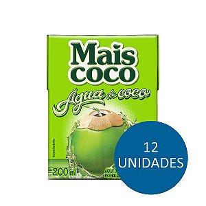 Kit C/ 12 Unidades Água de Coco - Mais Coco 200ml