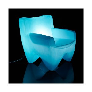 Poltrona Decorativa Cadeira Plástico Joker Iluminada Freso