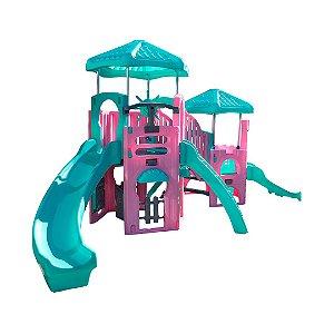 Playground Aqua Sereia Freso com Escorregador Infantil