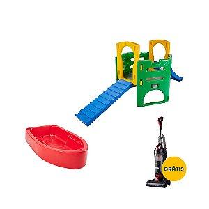 Kit Diversão Pet Playground e Piscina para Cachorro Freso + Aspirador Wap Power Speed Grátis