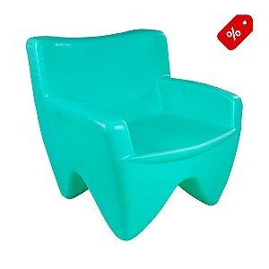 Poltrona Decorativa Cadeira de Plástico Joker Verde Água Freso - Out