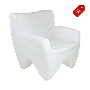 Poltrona Decorativa Cadeira de Plástico Joker Branco Freso - Out