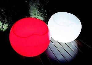 Puff Redondo Cadeira Decorativa de Plástico Iluminado Freso