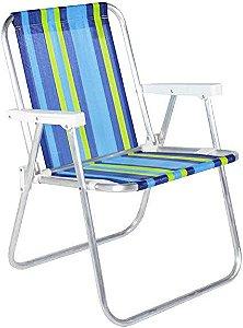 Cadeira de praia alta em alumínio Belfix