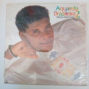Disco de Vinil Emilio Santiago - Aquarela Brasileira 2/2 Interprete Emilio Santiago (1989) [usado]