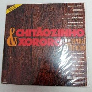 Disco de Vinil Aguenta Coração - Chitãozinho e Xororó Interprete Chitãozinho e Xororó (1991) [usado]