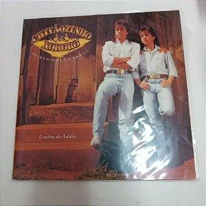 Disco de Vinil Cowboy do Asfasto - Chitãozinho e Xororó Interprete Chitãozinho e Xororó (1989) [usado]