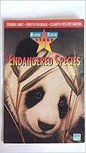 Livro Endangered Species- Stage 1 Autor Amos, Eduardo (1994) [usado]