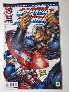 Gibi Capitão América Nº 4 - Herois Renascem Autor Abril (1999) [usado]