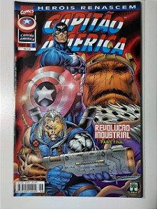 Gibi Capitão América Nº 6 - Herois Renascem Autor Abril (1999) [usado]