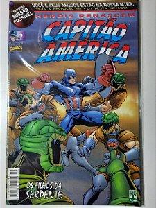 Gibi Capitão América Nº 9 - Herois Renascem Autor Abril (1999) [usado]