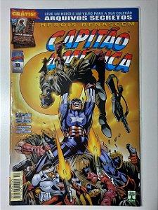 Gibi Capitão América Nº 10 - Herois Renascem Autor Abril (1999) [usado]