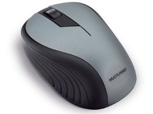 MOUSE WIRELESS MOUSE MO213 ANATOMICO 2.4GHZ SEM FIO 1200DPI USB PRETO E GRAFITE