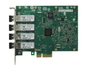 PLACA DE REDE SERVER PCI PLACA DE REDE E1G44HFBLK PCI-EX X4 CHIP 82580 QUAD PORT LC FIBER 1GBIT
