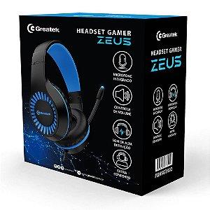 Headset Gamer Greatek Zeus C\ Fio E Led Azul Ps4 Xbox Pc