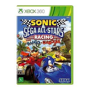 Jogo Sonic e SEGA All-Stars Racing com Banjo-Kazooie - XBOX 360