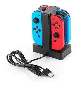 Base Carregador Para Joy-con Nintendo Switch P/ 4 Controles