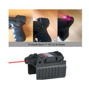 Glock Laser Mira Vermelho Airsoft G17 22 23 27 28 31 32 33