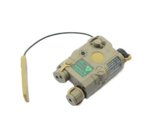 Laser e Lanterna Sniper TAN para Fuzil T4 Ar15 M4 Carabina CTT