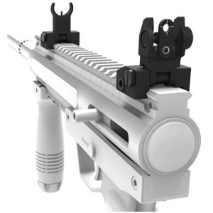 Mira Rebatível Com 2 ajustes rápidos Ar15 T4 Ctt trilho 20mm Souforce