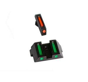 Mira Com Fibra Para Glock G17 G19 G22 G23 G24 G25 G26 GGR