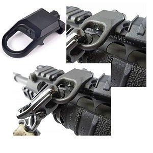 Suporte Rsa Para Bandoleira estilo Zarelho Para Trilho 20mm A 22mm